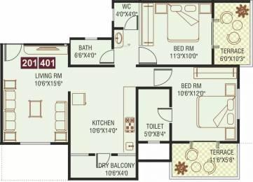 1108 sqft, 2 bhk Apartment in Paras Delicia Hinjewadi, Pune at Rs. 21000