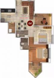 851 sqft, 2 bhk Apartment in Legacy Twin Arcs  Tathawade, Pune at Rs. 15000