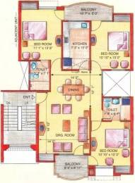 1330 sqft, 3 bhk Apartment in Eldeco Green Meadows PI, Greater Noida at Rs. 64.0000 Lacs
