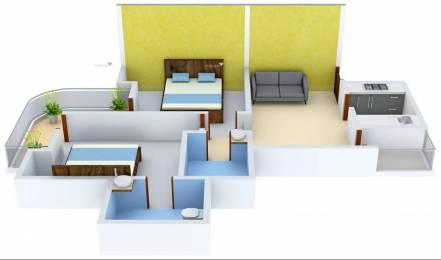 1164 sqft, 2 bhk Apartment in Stellar MI Citihomes Omicron, Greater Noida at Rs. 10000