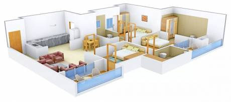 1827 sqft, 3 bhk Apartment in  Cleo County Sector 121, Noida at Rs. 32000