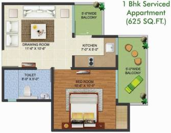 625 sqft, 1 bhk Apartment in Aadhaar Life Sector 16 Noida Extension, Greater Noida at Rs. 19.5600 Lacs