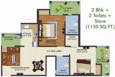1130 sqft, 2 bhk Apartment in Aadhaar Life Sector 16 Noida Extension, Greater Noida at Rs. 32.7700 Lacs