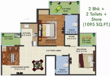 1095 sqft, 2 bhk Apartment in Aadhaar Life Sector 16 Noida Extension, Greater Noida at Rs. 32.8500 Lacs
