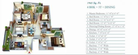 1945 sqft, 4 bhk Apartment in Aadhaar Life Sector 16 Noida Extension, Greater Noida at Rs. 62.2400 Lacs