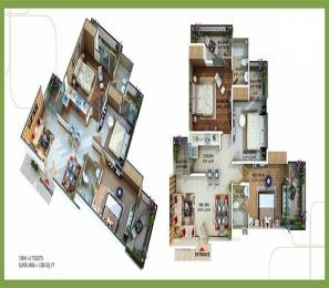 1380 sqft, 3 bhk Apartment in Omkar Royal Nest Knowledge Park, Greater Noida at Rs. 46.9200 Lacs