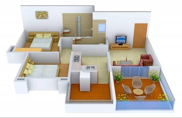940 sqft, 2 bhk Apartment in Ram Unnati Privilege Kondhwa, Pune at Rs. 34.0000 Lacs