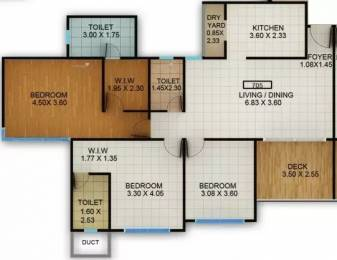 1475 sqft, 3 bhk Apartment in Kolte Patil Centria Undri, Pune at Rs. 1.0700 Cr
