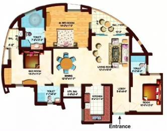 1655 sqft, 3 bhk Apartment in Eldeco Olympia Sector 93A, Noida at Rs. 1.1500 Cr