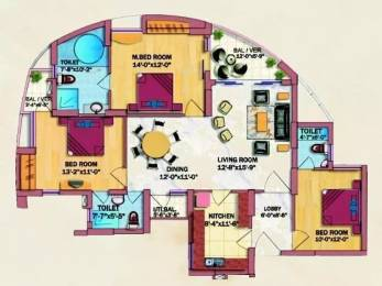 1655 sqft, 3 bhk Apartment in Eldeco Olympia Sector 93A, Noida at Rs. 1.1000 Cr
