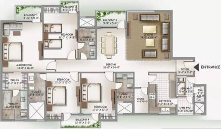 2560 sqft, 4 bhk Apartment in 3C Lotus Boulevard Espacia Sector 100, Noida at Rs. 30500