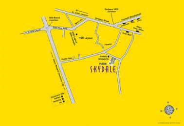1345 sqft, 2 bhk Apartment in Builder Purvankara skydale Harlur Road, Bangalore at Rs. 86.0000 Lacs
