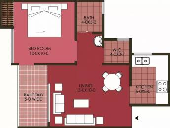 590 sqft, 1 bhk Apartment in Patel Neo Town Techzone 4, Greater Noida at Rs. 16.0000 Lacs