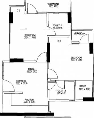 860 sqft, 2 bhk Apartment in Gaursons 5th Avenue Sector 4 Noida Extension, Greater Noida at Rs. 8500