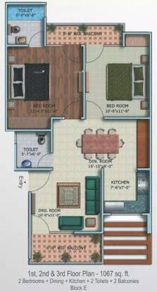 1067 sqft, 2 bhk Apartment in Supertech Oxford Square Sector 16B Noida Extension, Greater Noida at Rs. 10000