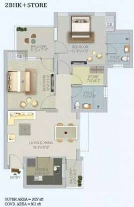 1027 sqft, 2 bhk Apartment in Stellar Jeevan Sector 1 Noida Extension, Greater Noida at Rs. 8500