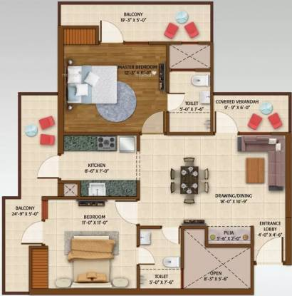 1125 sqft, 2 bhk Apartment in Ace Aspire Techzone 4, Greater Noida at Rs. 7000