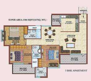 1804 sqft, 3 bhk Apartment in TDI Wellington Heights Sector 117 Mohali, Mohali at Rs. 60.0000 Lacs