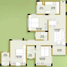1500 sqft, 3 bhk Apartment in Ozone Evergreens Harlur, Bangalore at Rs. 87.0000 Lacs