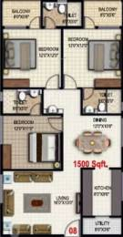 1500 sqft, 3 bhk Apartment in Sraddha Lakefront KR Puram, Bangalore at Rs. 65.0000 Lacs