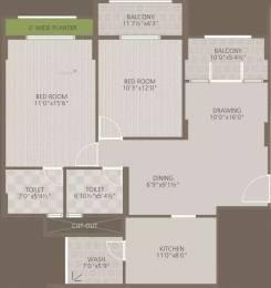 1197 sqft, 2 bhk Apartment in Goyal Orchid Woods Narayanapura on Hennur Main Road, Bangalore at Rs. 90.0000 Lacs