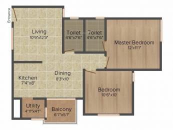 938 sqft, 2 bhk Apartment in Akshaya January Thaiyur, Chennai at Rs. 35.0000 Lacs