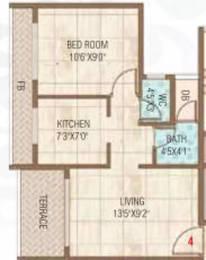 692 sqft, 1 bhk Apartment in Bhagwati Bella Vista Ulwe, Mumbai at Rs. 7600