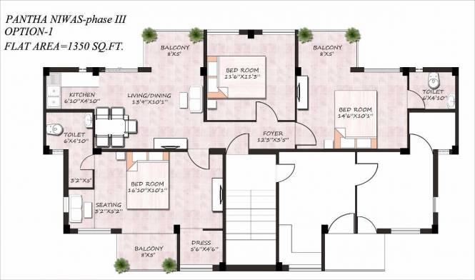1350 sqft, 3 bhk Apartment in Builder Project Shantiniketan, Bolpur at Rs. 33.5000 Lacs