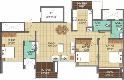 1601 sqft, 3 bhk Apartment in Pharande Woodsville Chikhali, Pune at Rs. 90.0000 Lacs