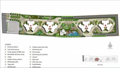 1225 sqft, 2 bhk Apartment in Kalpataru Crescendo Wakad, Pune at Rs. 98.0000 Lacs