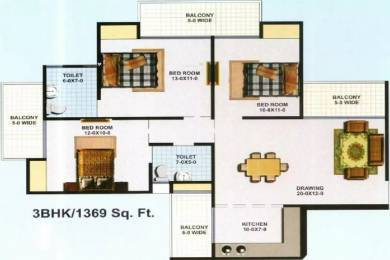1369 sqft, 3 bhk Apartment in KBNOWS Apartments Sector 16 Noida Extension, Greater Noida at Rs. 44.7300 Lacs