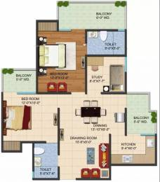 1195 sqft, 2 bhk Apartment in Galaxy Vega Techzone 4, Greater Noida at Rs. 39.4400 Lacs