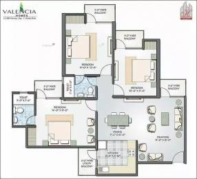 1400 sqft, 3 bhk Apartment in Hawelia Valencia Homes Sector 1 Noida Extension, Greater Noida at Rs. 46.1600 Lacs