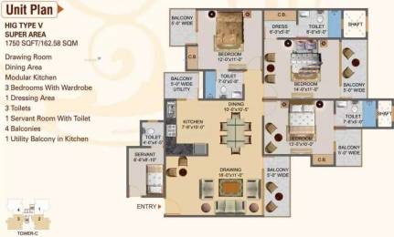 1750 sqft, 3 bhk Apartment in Hawelia Valencia Homes Sector 1 Noida Extension, Greater Noida at Rs. 61.2200 Lacs