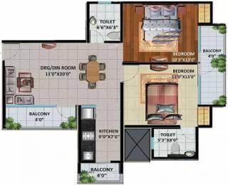 1144 sqft, 2 bhk Apartment in Devika Skypers Raj Nagar Extension, Ghaziabad at Rs. 31.4600 Lacs