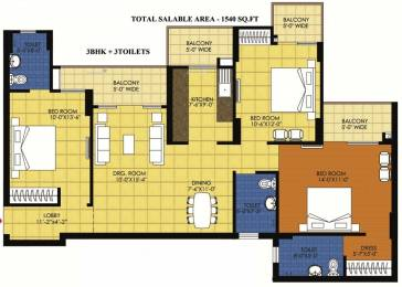 1540 sqft, 3 bhk Apartment in Trident Embassy Sector 1 Noida Extension, Greater Noida at Rs. 52.0000 Lacs