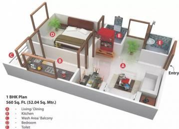 560 sqft, 1 bhk Apartment in Nariman Nariman Point Mahalakshmi Nagar, Indore at Rs. 18.0000 Lacs