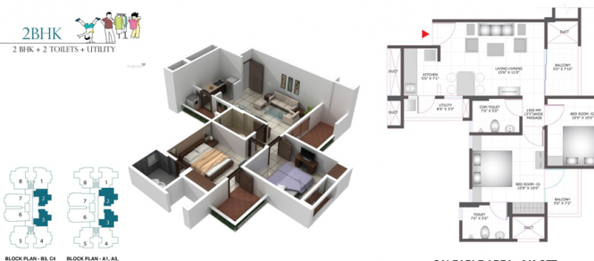 965 sqft, 2 bhk Apartment in BCC Bharat City Indraprastha Yojna, Ghaziabad at Rs. 27.0000 Lacs