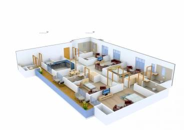 3160 sqft, 4 bhk Apartment in ABW La Lagune Sector 54, Gurgaon at Rs. 90000