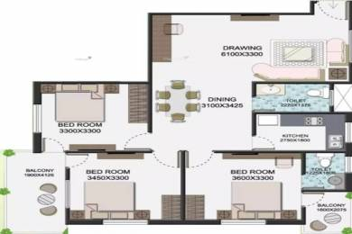 1255 sqft, 3 bhk Apartment in SK Singur Mega City Singur, Kolkata at Rs. 27.6100 Lacs