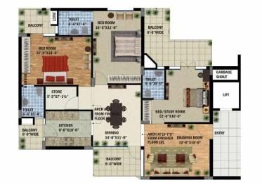 1960 sqft, 3 bhk Apartment in Builder SBP SOUTH CITY Vip Road Zirakpur, Chandigarh at Rs. 52.0000 Lacs
