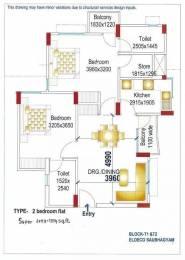 1200 sqft, 2 bhk Apartment in Eldeco Saubhagyam Vrindavan Yojna, Lucknow at Rs. 47.0000 Lacs