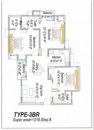 1219 sqft, 3 bhk Apartment in Eldeco Saubhagyam Vrindavan Yojna, Lucknow at Rs. 14000