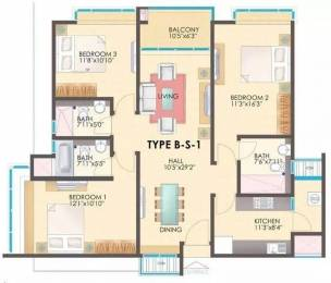 1710 sqft, 3 bhk Apartment in TVH Ouranya Bay Padur, Chennai at Rs. 30000