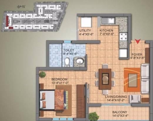 640 sqft, 1 bhk Apartment in SJR Hamilton Homes Avalahalli Off Sarjapur Road, Bangalore at Rs. 32.0000 Lacs