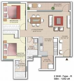1242 sqft, 2 bhk Apartment in SJR Palazza City Sarjapur Road Wipro To Railway Crossing, Bangalore at Rs. 62.0000 Lacs