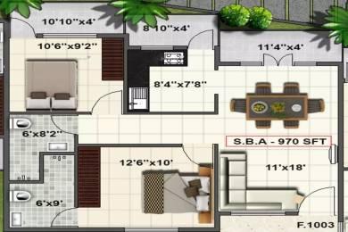 970 sqft, 2 bhk Apartment in SV Pleasanta Sarjapur Road Post Railway Crossing, Bangalore at Rs. 37.0000 Lacs