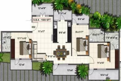 1500 sqft, 3 bhk Apartment in SV Pleasanta Sarjapur Road Post Railway Crossing, Bangalore at Rs. 57.0000 Lacs