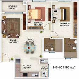 1195 sqft, 2 bhk Apartment in Bren Champions Square Sarjapur Road Post Railway Crossing, Bangalore at Rs. 70.0000 Lacs
