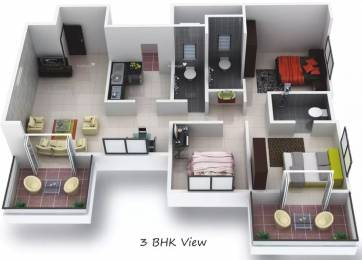 1500 sqft, 3 bhk Apartment in GoldFinger Tamara  Rahatani, Pune at Rs. 15500